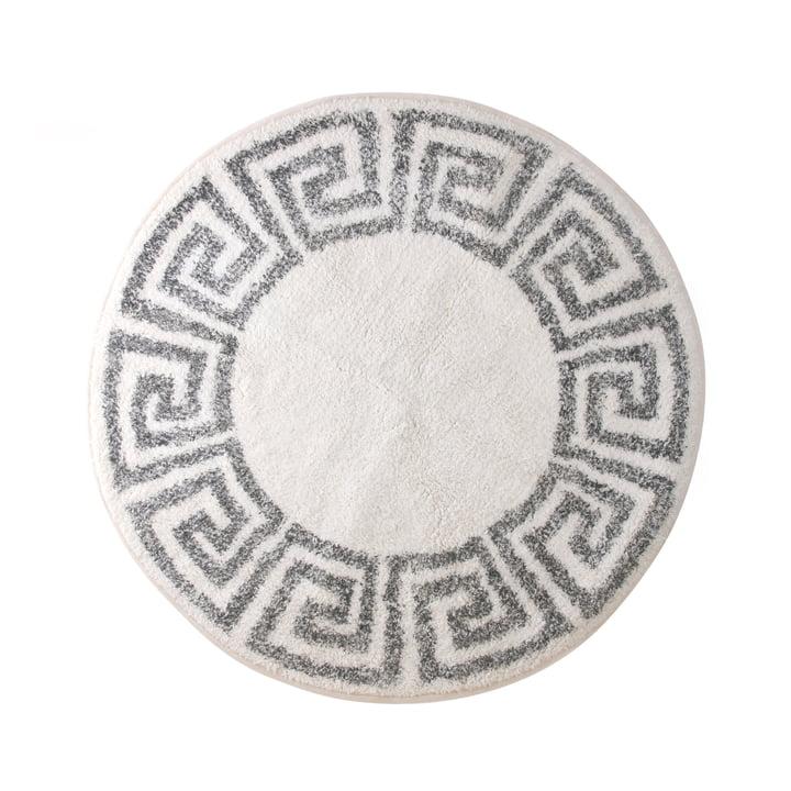 Greek Badematte rund M Ø 80 cm von HKliving in grau