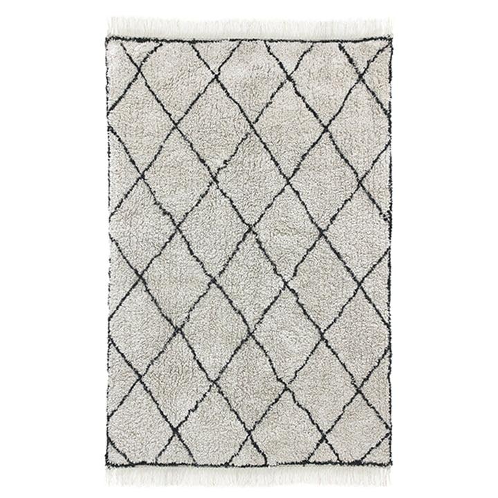 Diamond Teppich 120 x 180 cm von HKliving in weiß / schwarz
