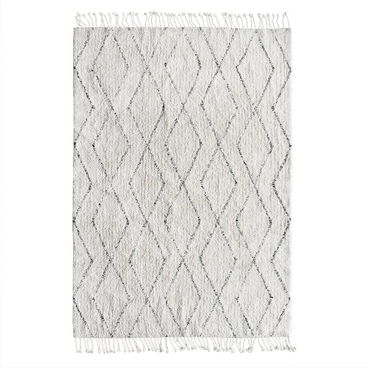Berber Teppich 140 x 200 cm von HKliving in weiß / schwarz