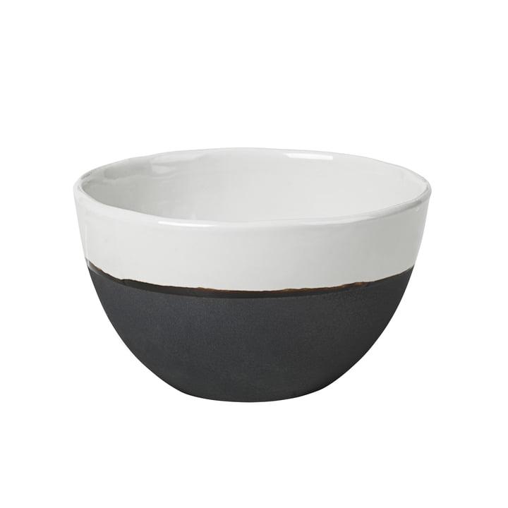 Esrum Schale, Ø 14 x H 9 cm, elfenbein glänzend / grau matt von Broste Copenhagen