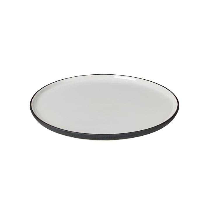 Esrum Frühstücksteller Ø 21 cm, elfenbein glänzend / grau matt von Broste Copenhagen