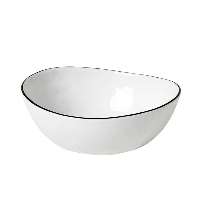Salt Schale, 15,5 x 17 x H 6 cm, weiß / schwarz von Broste Copenhagen