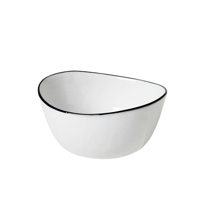 Salt Schale, 10 x 11 x H 5,5 cm, weiß / schwarz von Broste Copenhagen