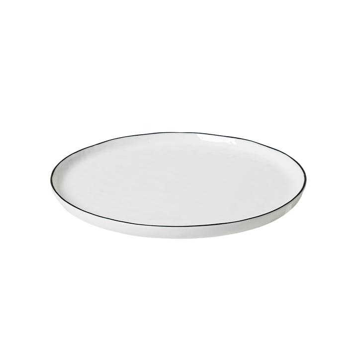 Salt Frühstücksteller Ø 22 cm, weiß / schwarz von Broste Copenhagen