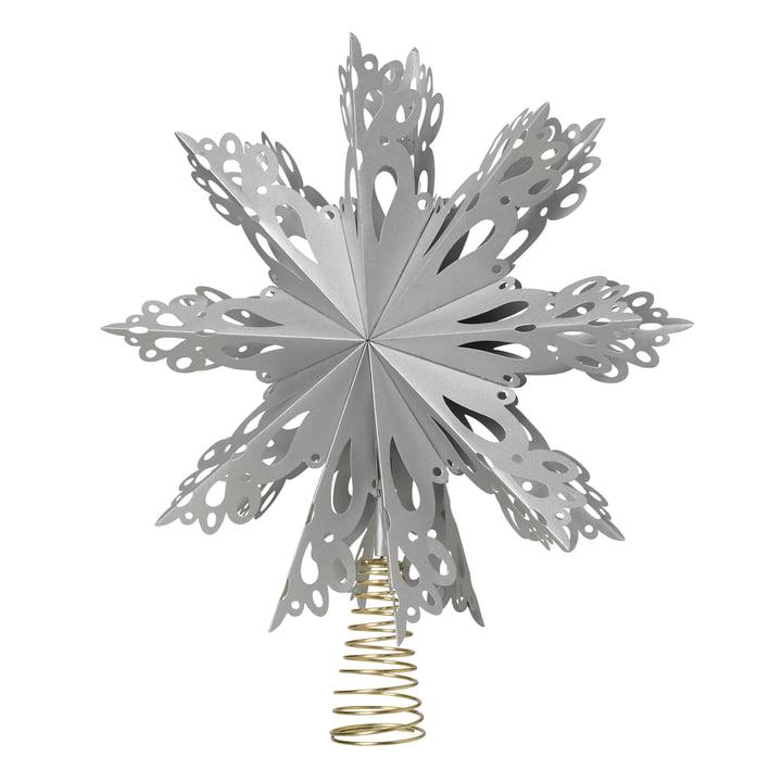 Christmas Star Christbaumspitze Ø 30 cm, silber von Broste Copenhagen