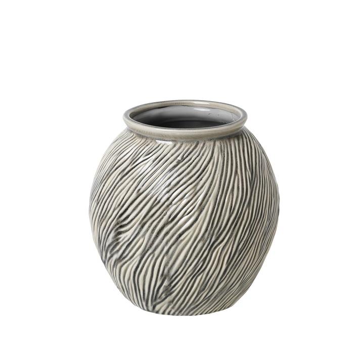 Sandy Vase S, Ø 20,5 x H 21 cm, smoked pearl von Broste Copenhagen