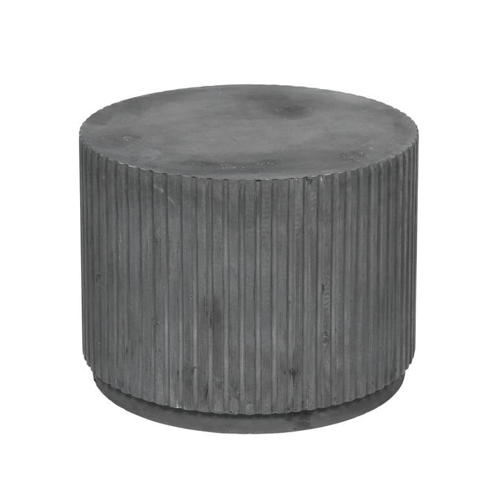 Rillo Beistelltisch, Ø 56 x H 42 cm, charcoal von Broste Copenhagen