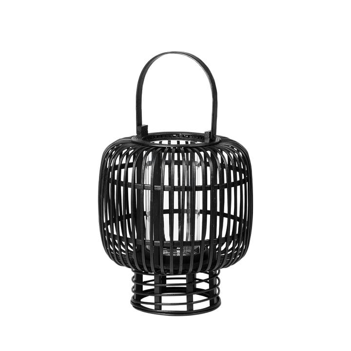 Goran Bambus Laterne, Ø 27,5 x H 33 cm, schwarz von Broste Copenhagen