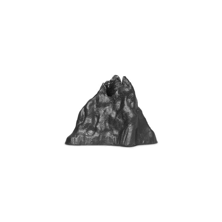 Stone Kerzenhalter large, Aluminium schwarz von ferm Living
