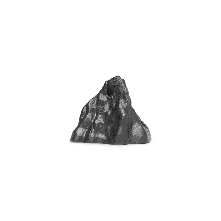 Stone Kerzenhalter small, Aluminium schwarz von ferm Living