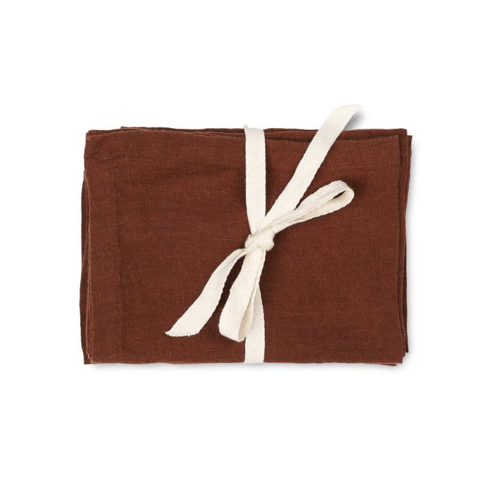 Linen Tischset, 50 x 30 cm, cinnamon (2er-Set) von ferm Living