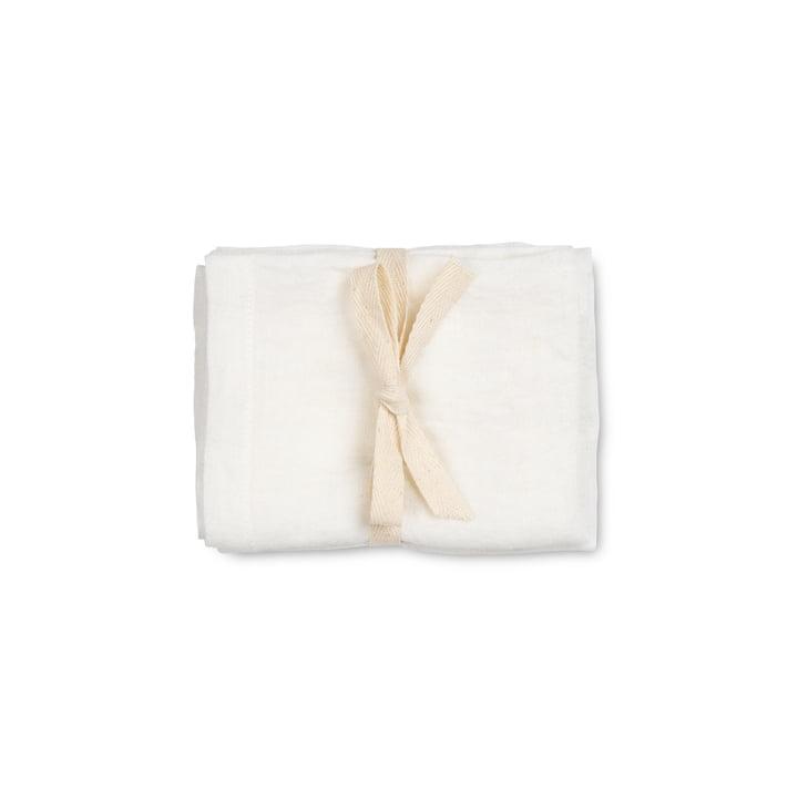 Linen Servietten, 45 x 45 cm, off-white (2er-Set) von ferm Living