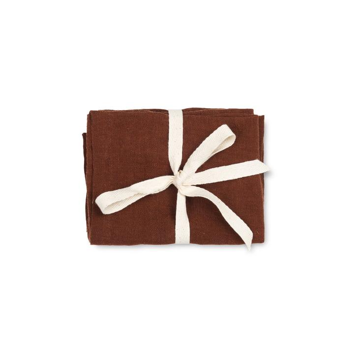 ferm Living - Linen Servietten, 45 x 45 cm, cinnamon (2er-Set)