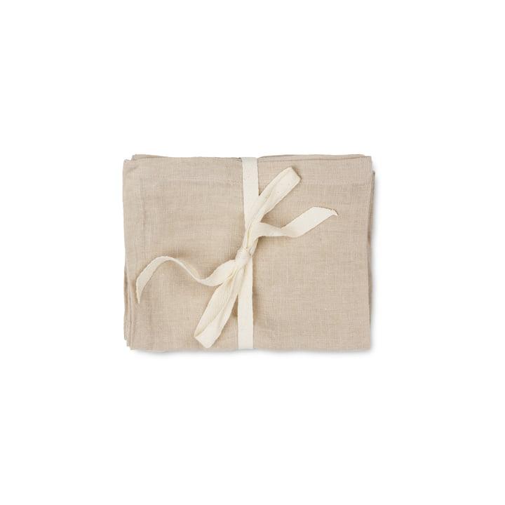 Linen Servietten, 45 x 45 cm, natural (2er-Set) von ferm Living