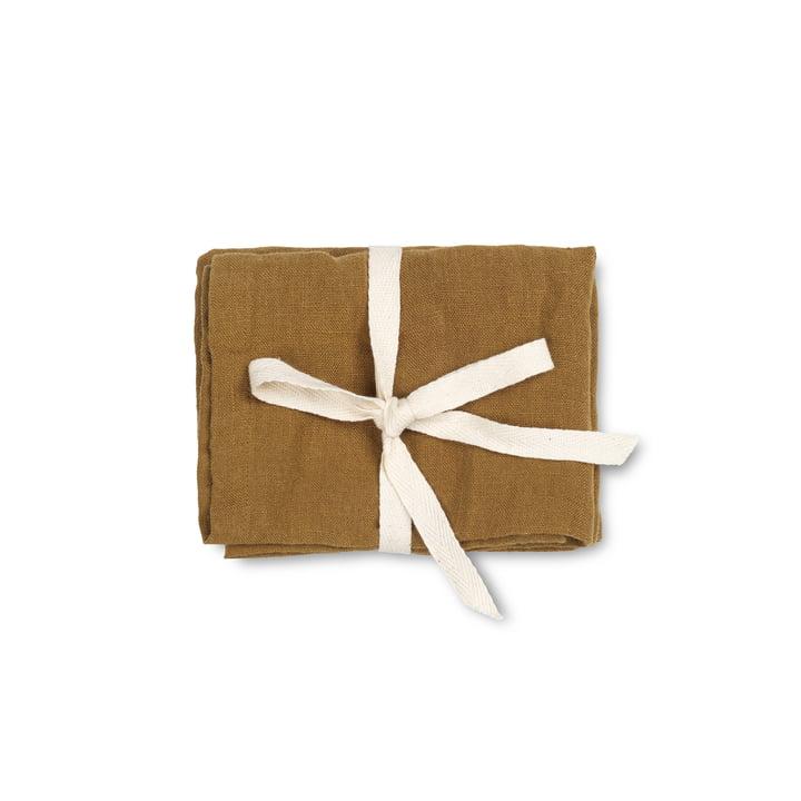 Linen Servietten, 45 x 45 cm, cinnamon (2er-Set) von ferm Living