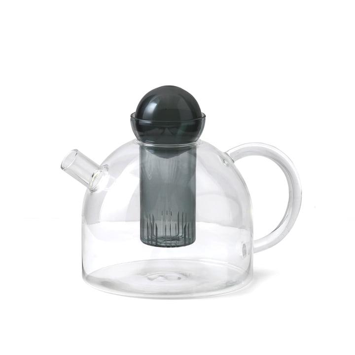 Still Teekanne 1,25 l von ferm Living in klar / rauchgrau