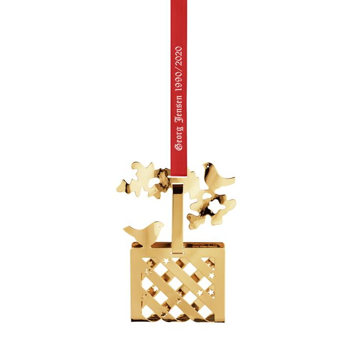 Weihnachtsmobile 1990 / 2020 Christmas Basket, gold von Georg Jensen.