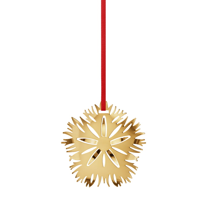 Holiday Ornament 2020 Ice Dianthus, gold von Georg Jensen.