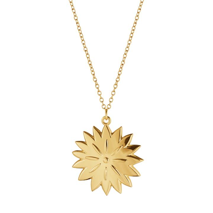 Ornament Anhänger 2020 Ice Dianthus, gold von Georg Jensen.