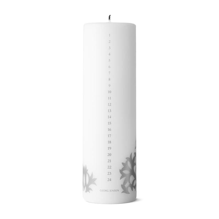 Christmas Collectibles Kalender-Kerze 2020, silber von Georg Jensen.