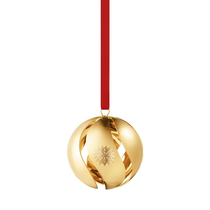 Weihnachtskugel 2020, gold von Georg Jensen.