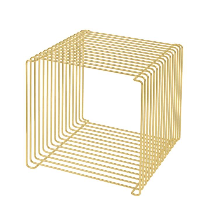 Panton Wire Regal / Beistelltisch 34,8 cm von Montana in matt gold (Limited Edition)