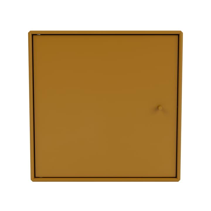 Mini Regalmodul mit Tür, amber von Montana.