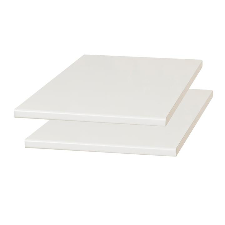 Damsbo Erweiterungsplatten, 2er- Set, 45 x 90 cm, hellgrau von Form & Refine