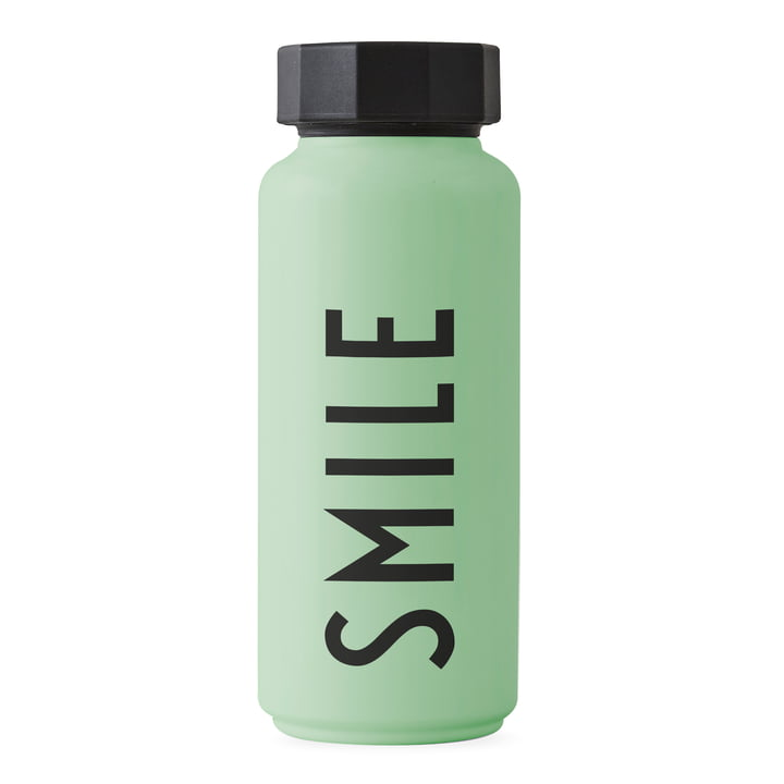 Die AJ Thermosflasche Hot & Cold 0,5 l, Smile / grün von Design Letters