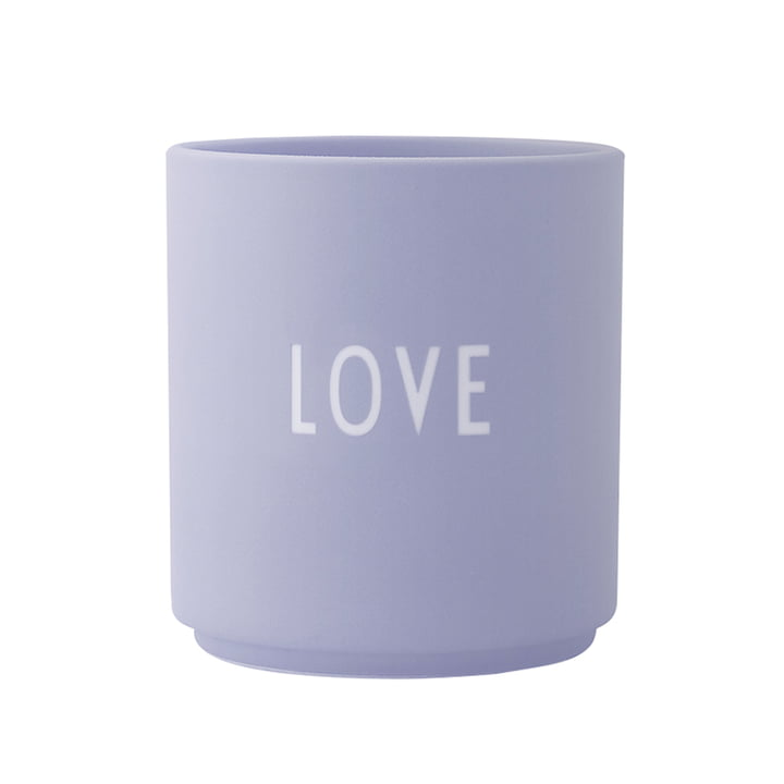 Der AJ Favourite Porzellan Becher, Love / flieder von Design Letters