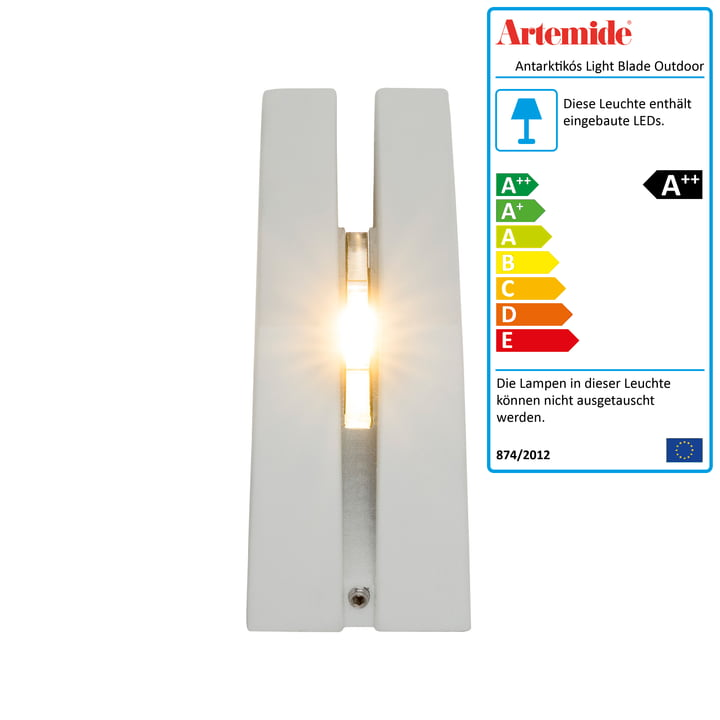 Antarktikós Light Blade Outdoor LED-Leuchte von Artemide