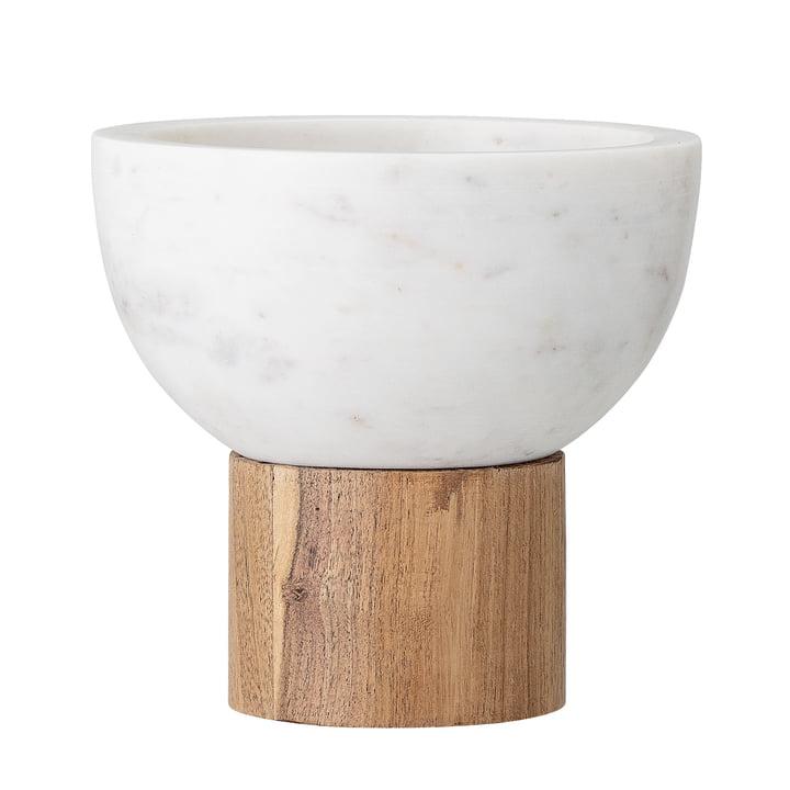 Marmor Servierschale, Ø 14,5 x H 14 cm, weiß von Bloomingville