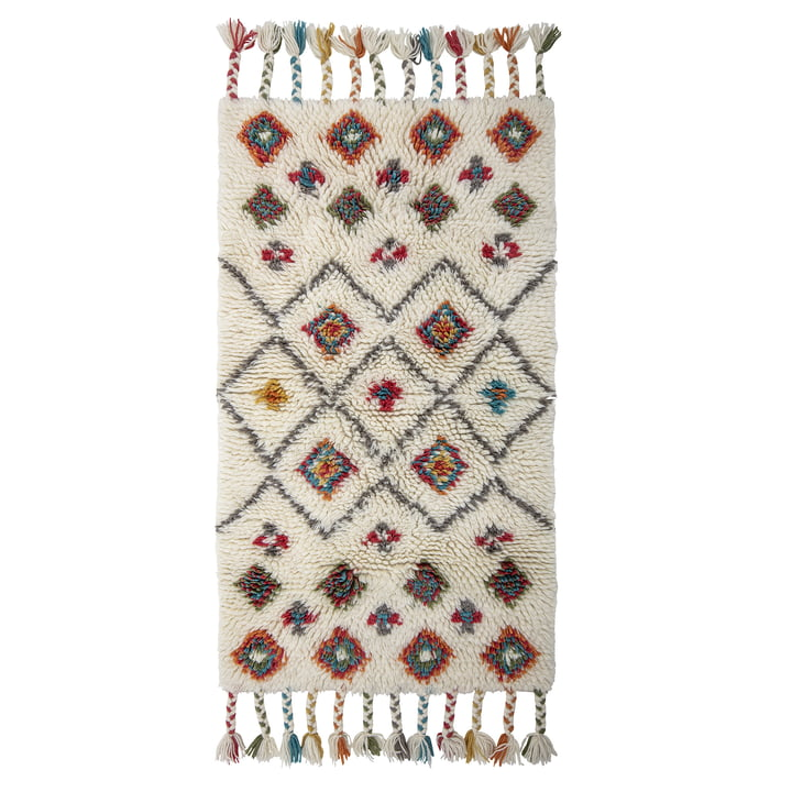 Ibne Rug, 90 x 150 cm, Wolle / Natur von Bloomingville