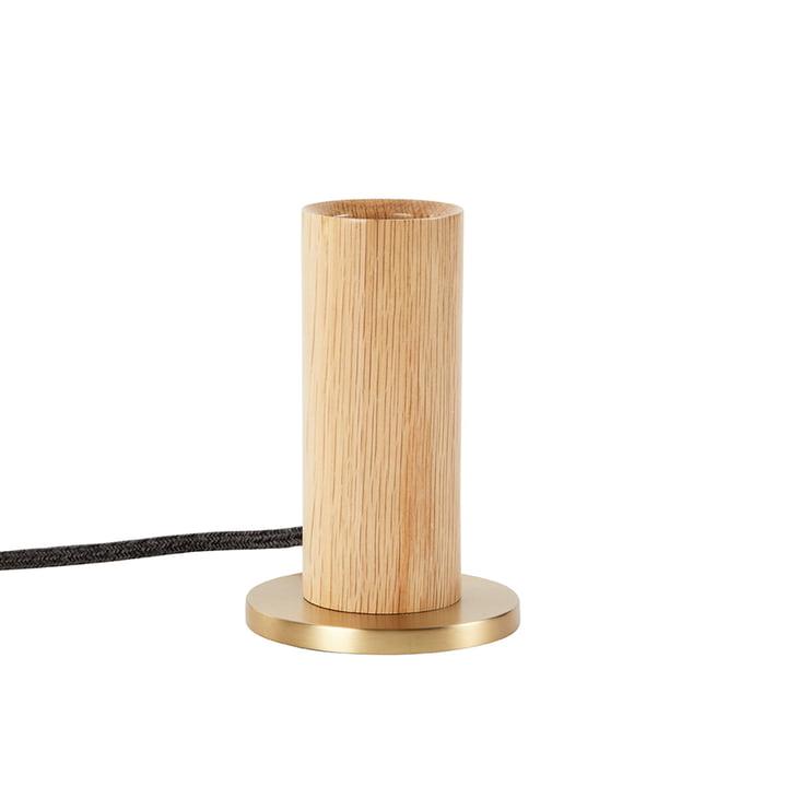 Oak Knuckle Tischleuchte, Eiche / Messing (EU) von Tala.