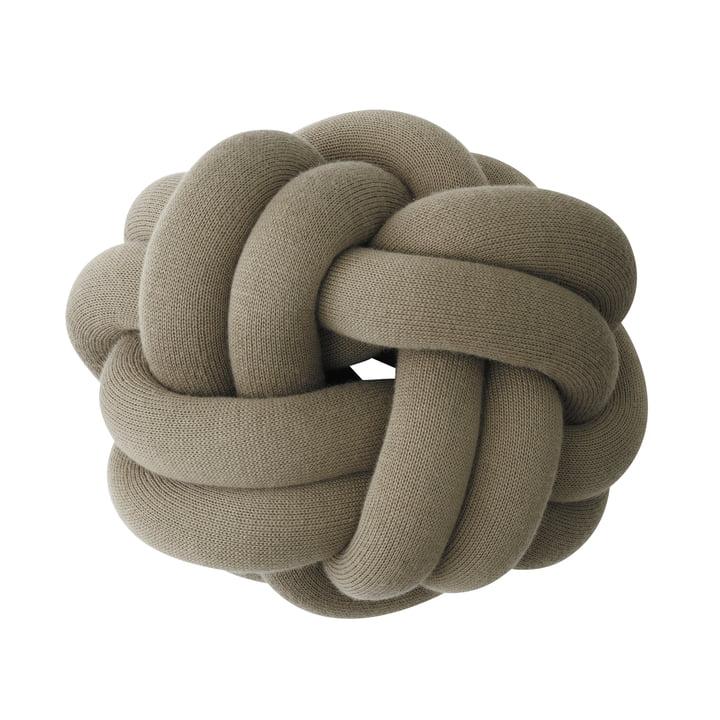 Knot Kissen, khaki von Design House Stockholm