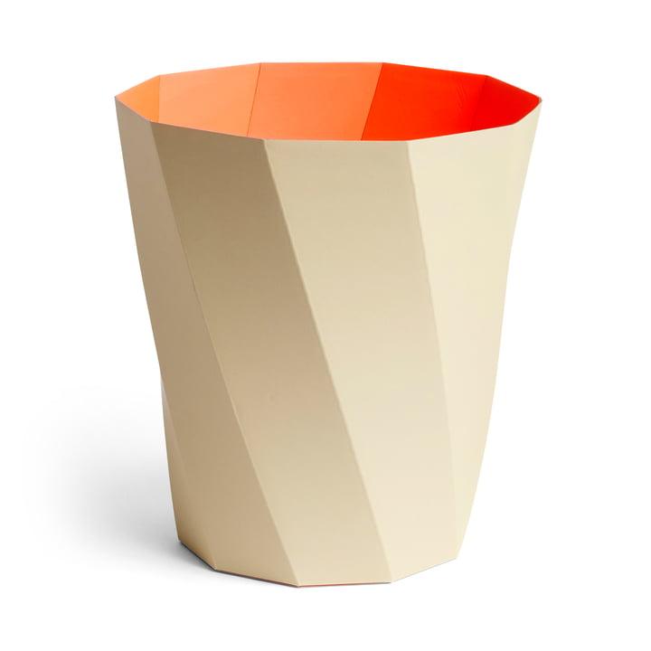 Paper Paper Papierkorb, Ø 28 x H 30,5 cm, warm beige von Hay.