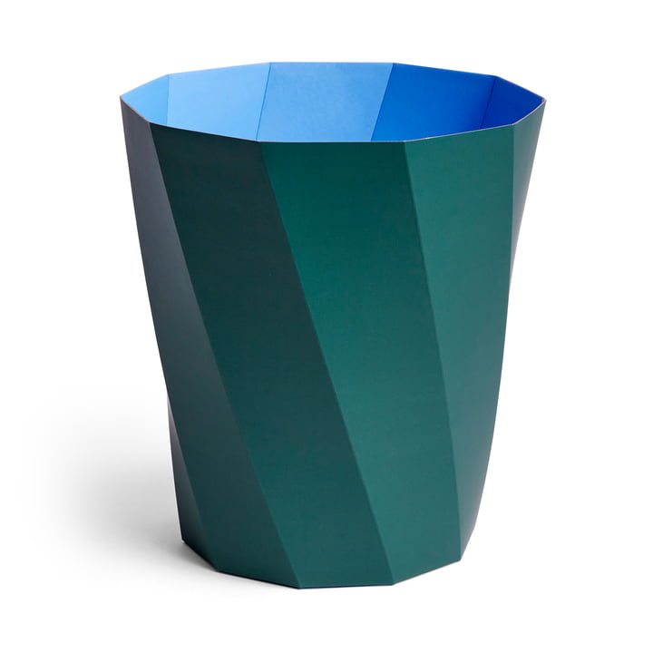 Paper Paper Papierkorb, Ø 28 x H 30,5 cm, dunkelgrün von Hay.