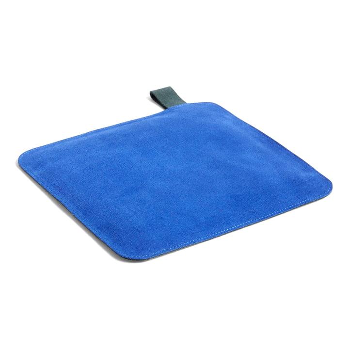 Suede Topflappen, 21,5 x 21,5 cm, blau von Hay.