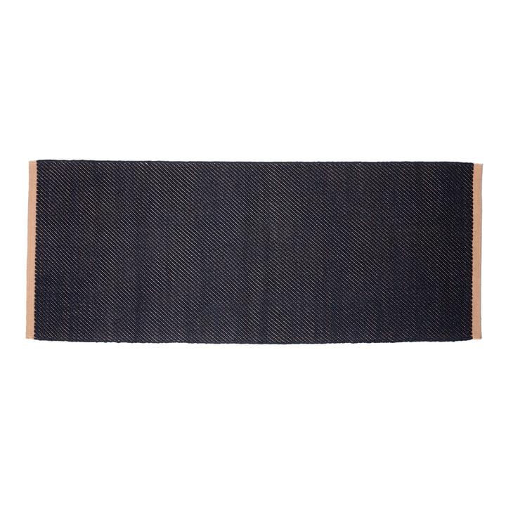 Bias Teppich, 80 x 200 cm, dunkelblau von Hay.
