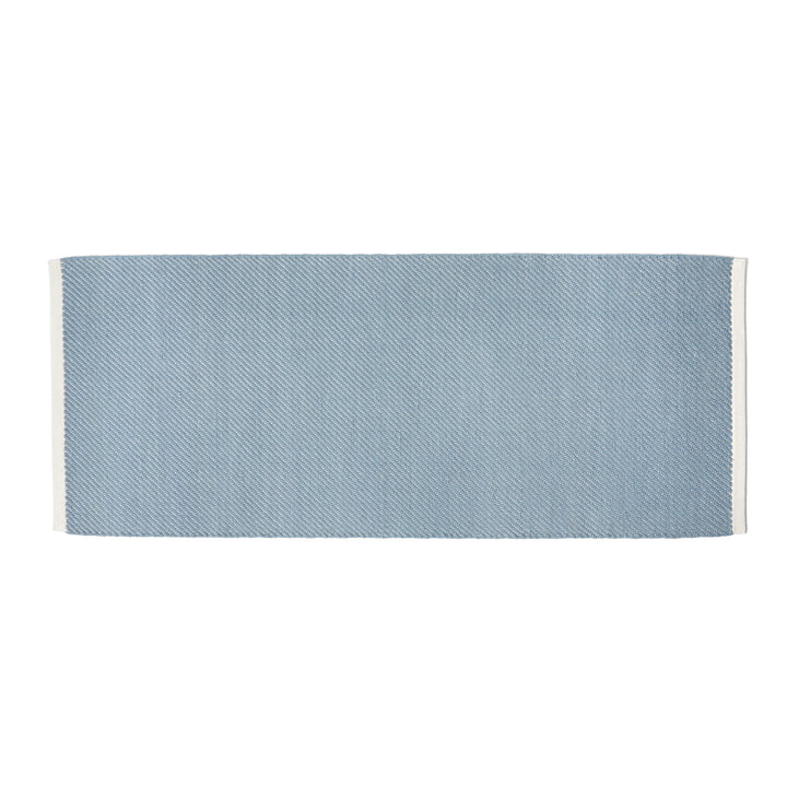 Bias Teppich, 80 x 200 cm, hellblau von Hay.