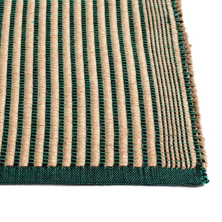 Tapis Teppich, schwarz / grün von Hay.