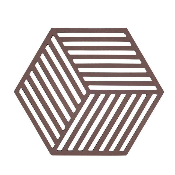 Hexagon Untersetzer, chocolate von Zone Denmark