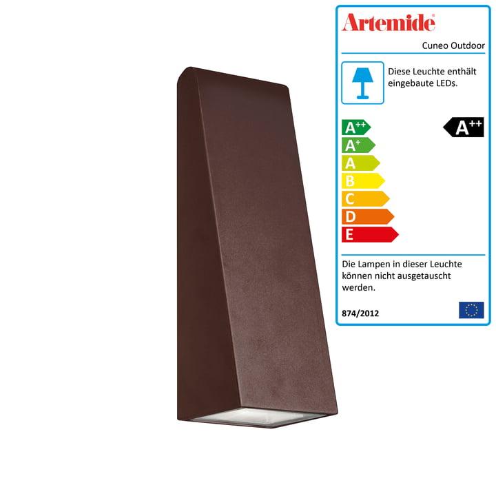 Cuneo Mini Outdoor LED-Wandleuchte, rost von Artemide