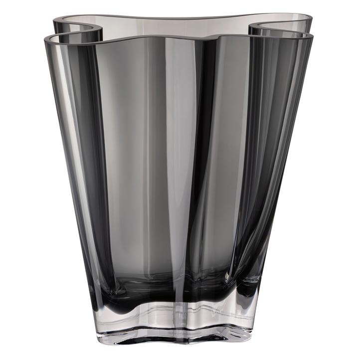 Flux Vase, 26 cm / grau von Rosenthal