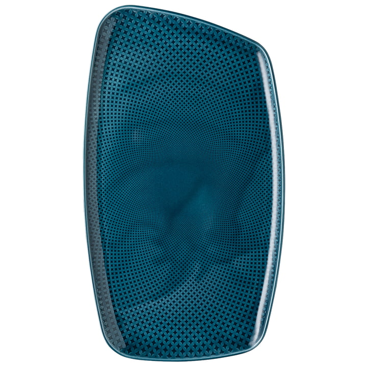 Junto Platte, 36 x 21 cm, ocean blue von Rosenthal
