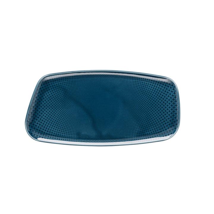 Junto Platte, 30 x 15 cm, ocean blue von Rosenthal