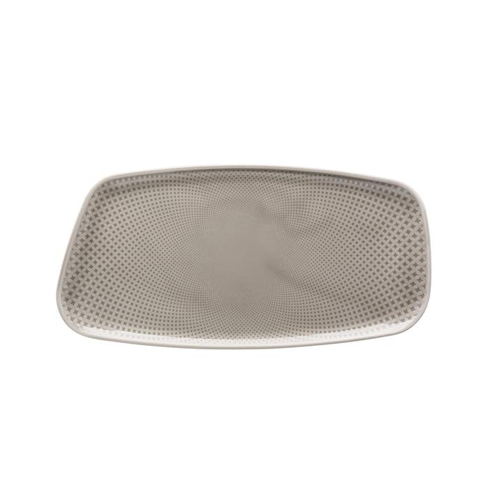 Junto Platte, 30 x 15 cm, pearl grey von Rosenthal