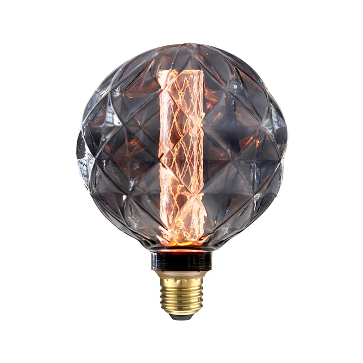 LED Romb, E27 / 3,5 W, Smoke Glass von NUD Collection