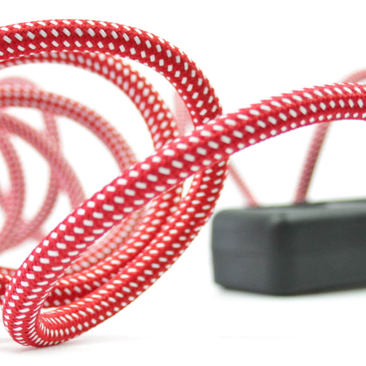 Extension Cord 3fach-Steckdose, Wellington Red (TT-95) von NUD Collection