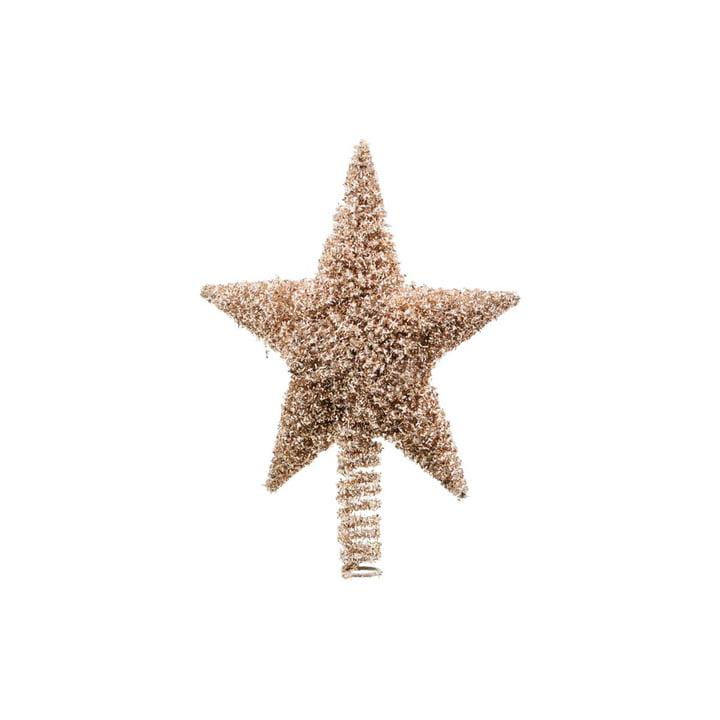 Weihnachtsbaumstern Joy 26 cm, gold von House Doctor